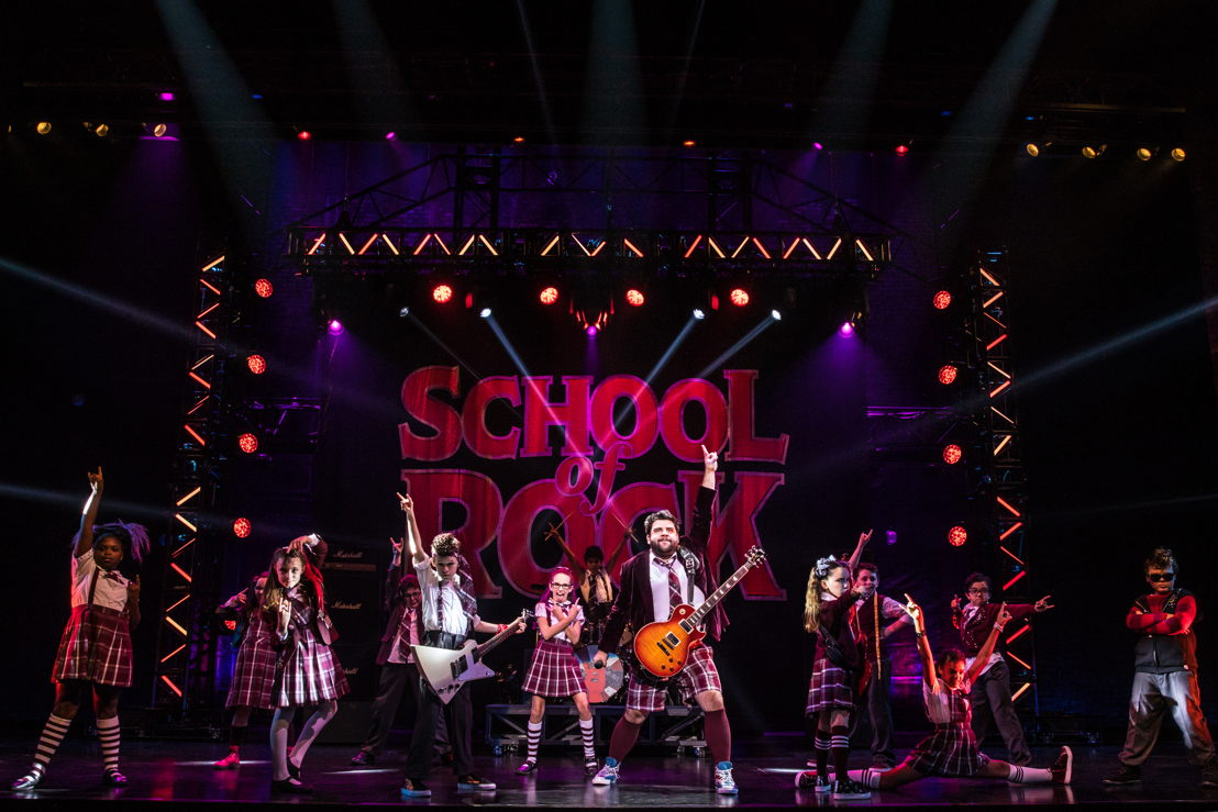 The cast of the School of Rock Tour. © Matthew Murphy.