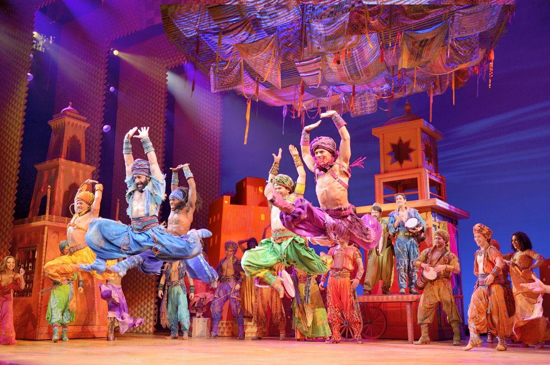 Arabian Nights Men. Disney's Aladdin Original Broadway Company. ©Disney. Photo by Deen van Meer.