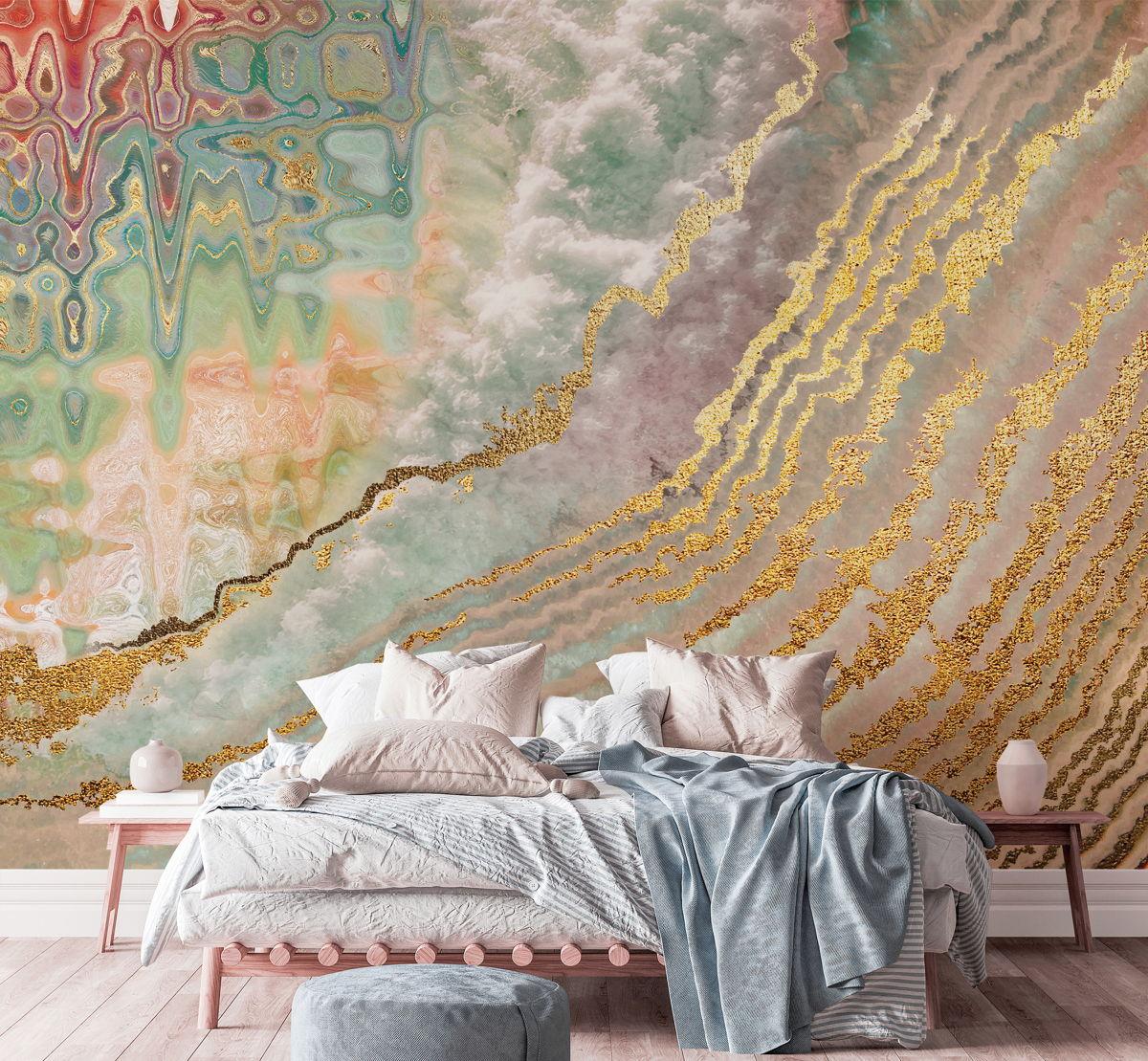 Geode Wave Mural