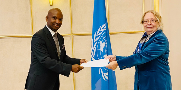 Preview: Head of the OECS Permanent Delegation to the United Nations in Geneva presents Credentials