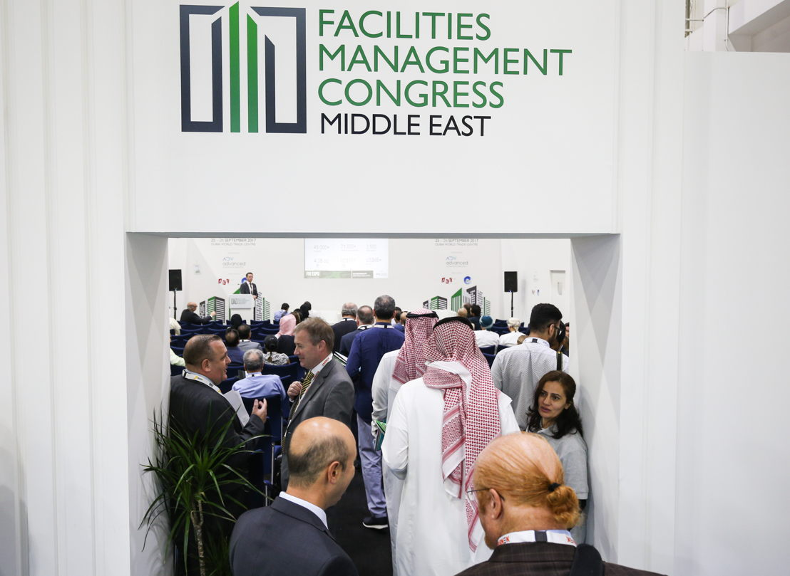 A crowded session at the Facilities Management Congress Middle East (FM EXPO)