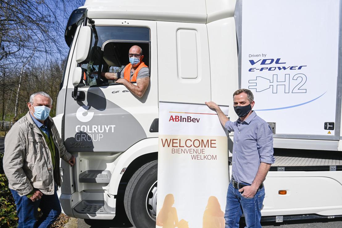 Colruyt Group en AB InBev bundelen de krachten om de markt voor waterstoftrucks in België te ontwikkelen