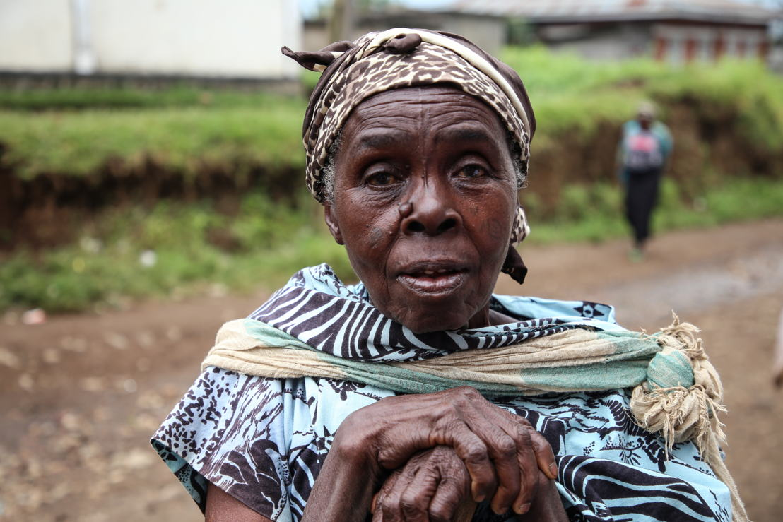 Portrait of Teresa, 78 years old, inhabitant of Masisi.<br/><br/>&quot;The people of Masisi are suffering, especially the women, MSF is doing a lot here. MSF is also in a way helping families, as many of the national staff were out of a job before MSF came into the area. Photographer: Sara Creta