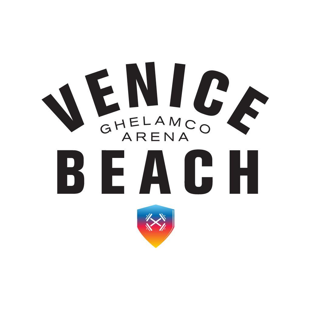 logo Venice Beach wit + kleur