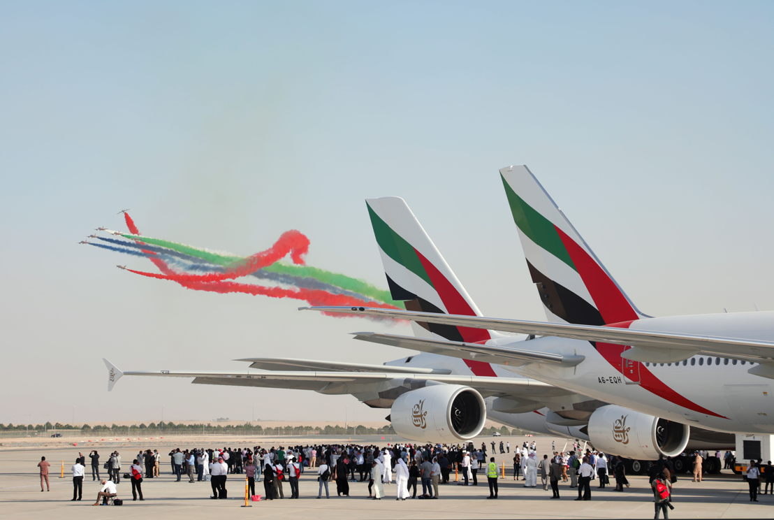 Emirates' full family of aircraft consisting of the airline's 100th A380, its latest Boeing 777-300ER with new cabin interiors, the Emirates Executive A319 aircraft, and the Cirrus SR 22 and Embraer Phenom 100 jets for cadet training, were on display this year at the Dubai Airshow.
