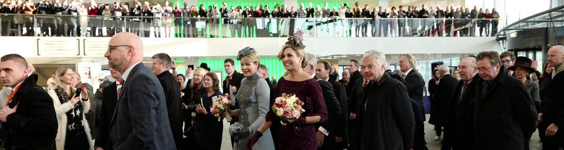 Une visite royale à la gare d'Utrecht
