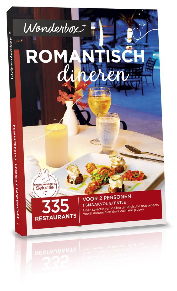 Wonderbox Romantisch dineren 59,90€.