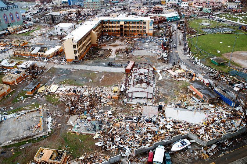 Destruction in the British Virgin Islands post Hurricane Irma.