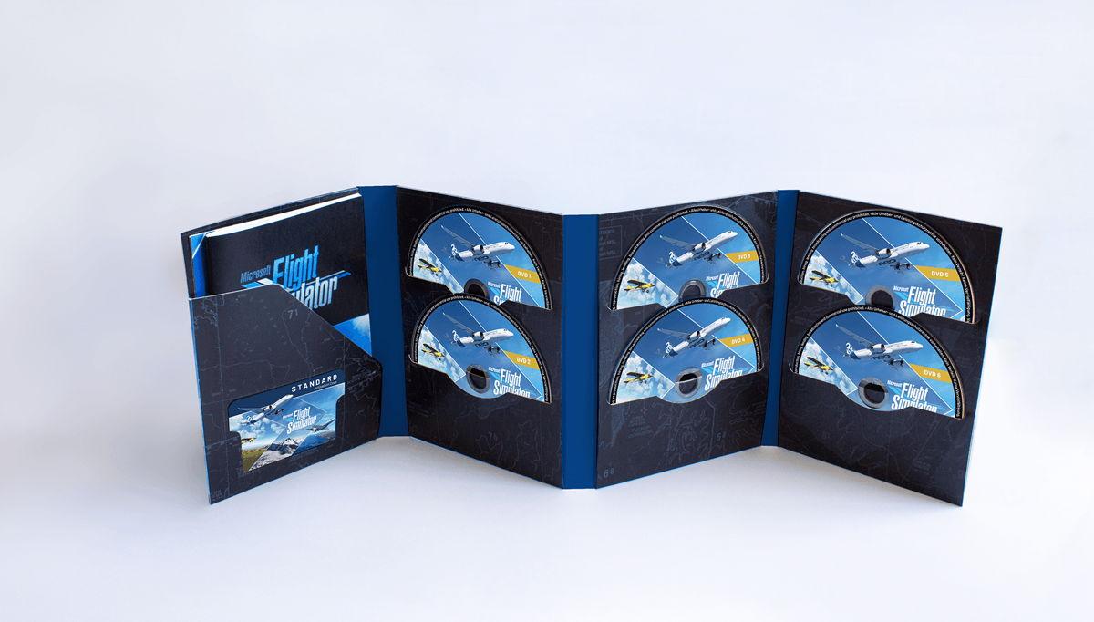 Die Box-Version des Microsoft Flight Simulators ist in zwei Versionen erhältlich.
