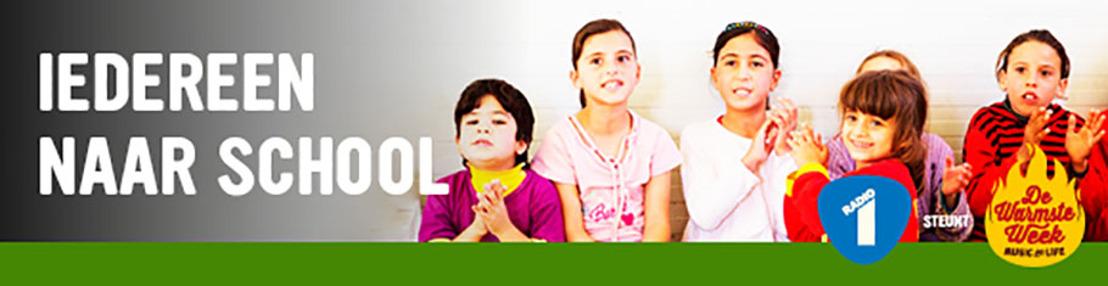 """""""Iedereen naar school""""-actie Radio 1 brengt al 10.375 euro op voor UNICEF"""