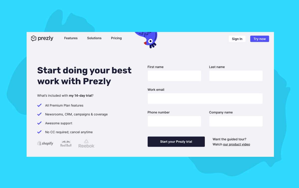 Academy: Try Prezly free for 14 days