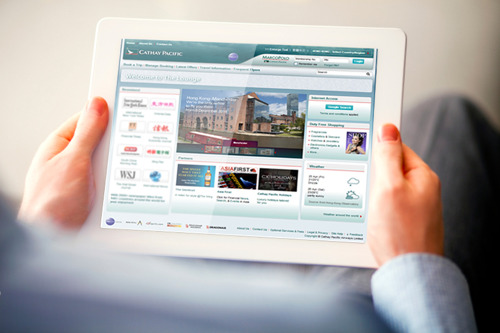 Cathay Pacific offers more than 2,000 digital newspaper and magazine titles to lounge passengers