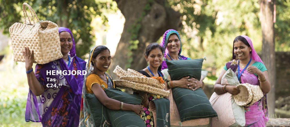 IKEA steunt op deskundigheid Indiase vrouwen voor de nieuwe HEMGJORD collectie