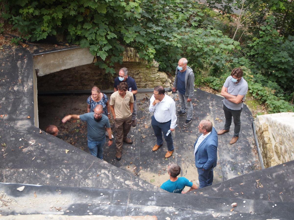 De kelder in het park Drie Fonteinen in Vilvoorde werd gerestaureerd