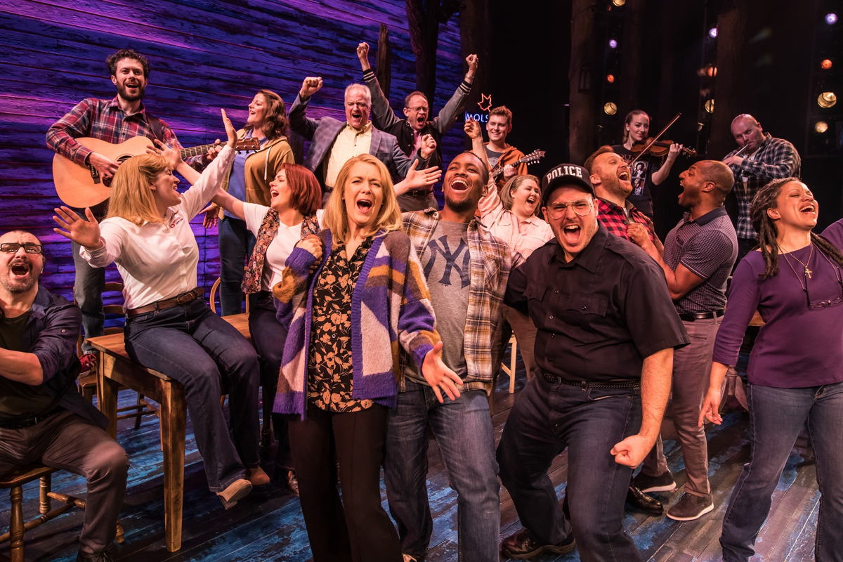 Sennheiser's SK 6212 bodypack transmitter achieves theatre's holy grail of invisibility for the Come from Away cast (Picture credit: Matthew Murphy)