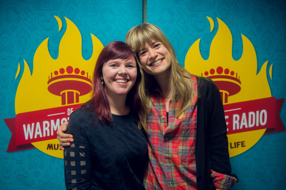 Ayco Duyster (Radio 1) & Eva De Roo (Studio Brussel) - (c) VRT/Jokko