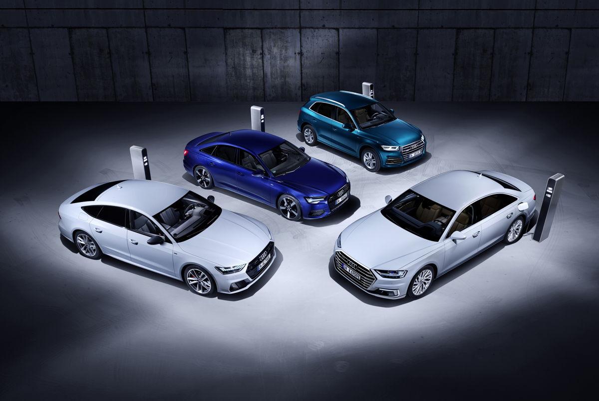 Audi A6 Berline TFSI e, A7 Sportback TFSI e , A8 L TFSI e, Q5 TFSI e