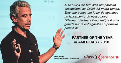 "CenturyLink recebe o prêmio ""Collab Partner of the Year"" 2018"