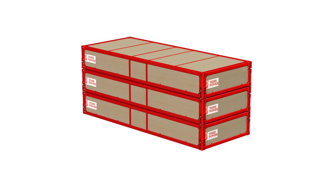 3 Sunfolds® stacked for transport