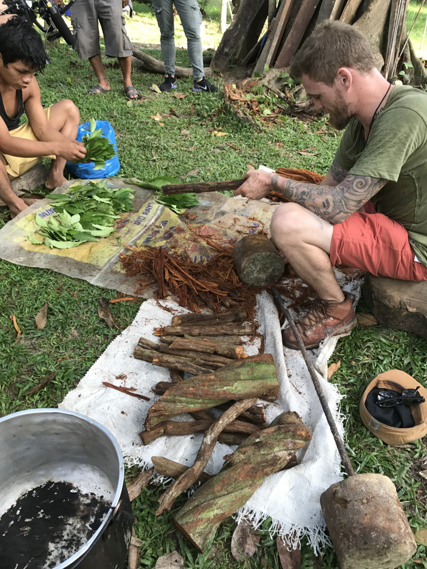 Preparing for an ayahuasca ceremony