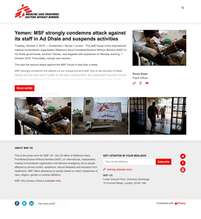 Yemen: MSF strongly condemns attack against its staff in Ad Dhale and suspends activities