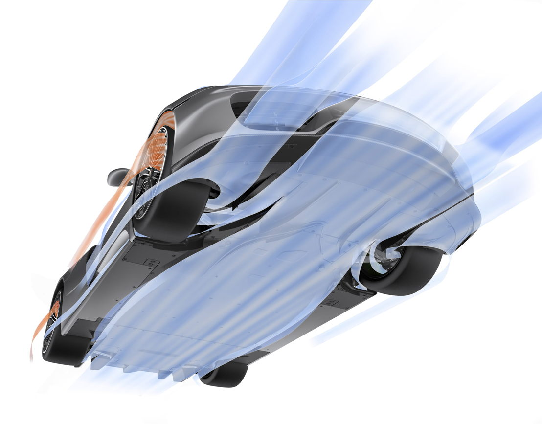 918 Spyder Aerodynamics underbody