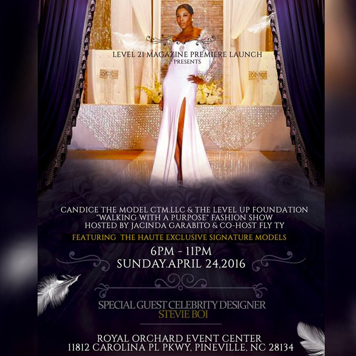 """Level 21 Magazine and CTM, LLC Hosts """"Walking With A Purpose"""" Charity Fashion Show and Launch Event"""