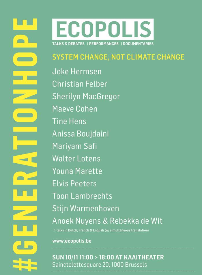 ECOPOLIS 2019: #generationhope