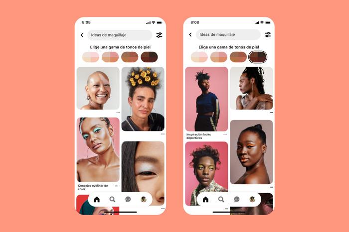 Pinterest amplía su función de gama de tonos de piel a más países