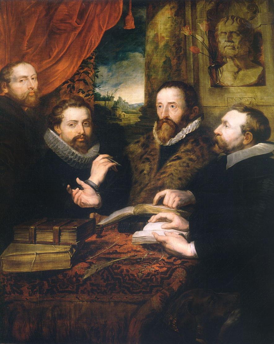 copie naar Peter Paul Rubens, De vier filosofen, 1600 - 1699, Museum Plantin-Moretus