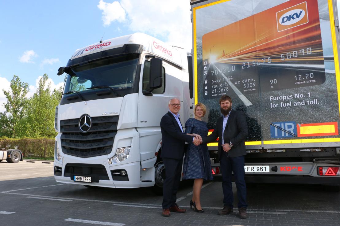 DKV Euro Service gaat partnerschap aan met Girteka Logistics