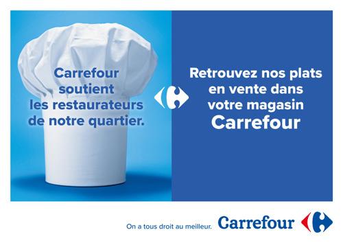 Carrefour donne un rayonnement national à son soutien au secteur de l'Horeca