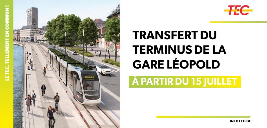 Transfert du terminus de la Gare Léopold à la place de l'Yser