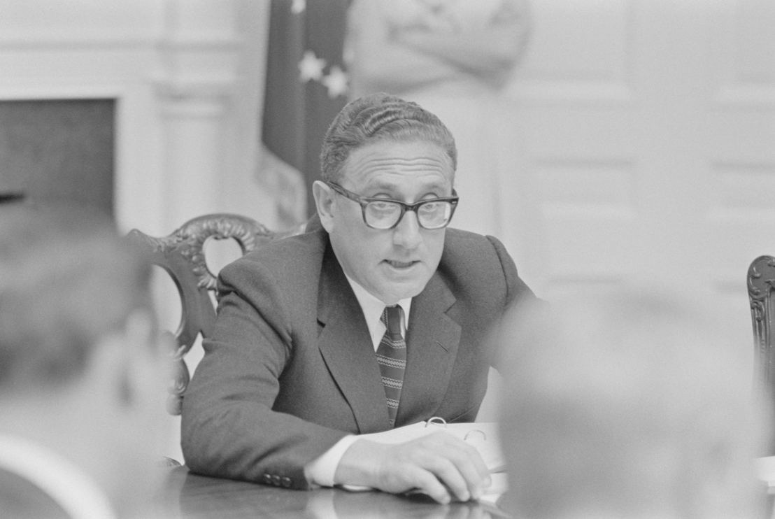 The Vietnam War - Aflevering 7: Nationaal veiligheidsadviseur Henry Kissinger op persbriefing 1969  - (c) Richard Nixon Presidential Library
