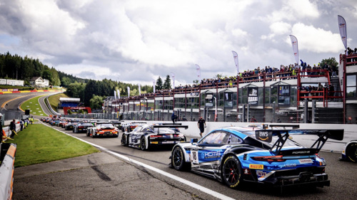 KCMG's two Porsche 911 GT3 R finish in the top 12 at Spa