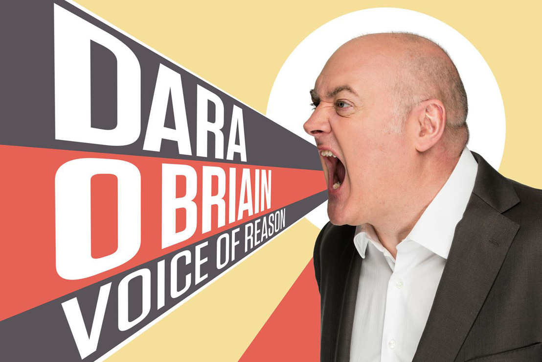 One of the biggest names in English comedy back in Belgium: Dara O Briain