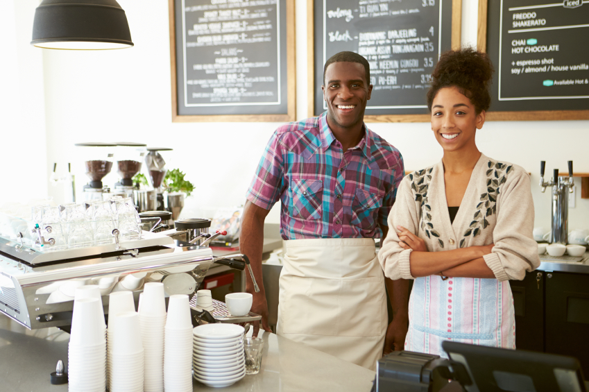 Young couple in  Business