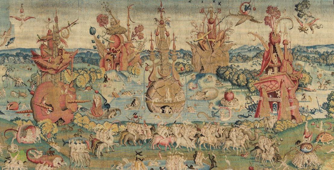 Op zoek naar Utopia © Brussels meester naar Jheronimus Bosch, Tuin der Lusten, Brussel, vóór 1560. Madrid, Patrimonio Nacional, Real Monasterio de San Lorenzo de El Escorial