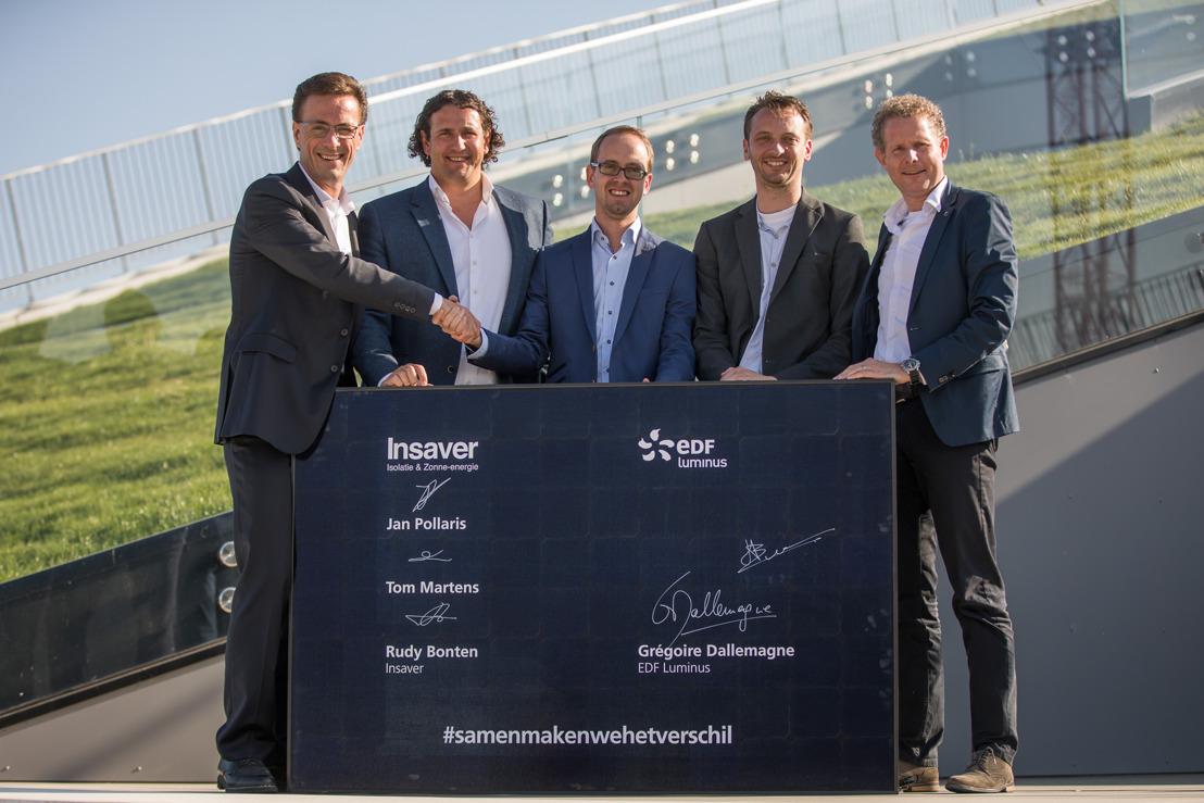 EDF Luminus zet haar groei in energie-efficiëntiediensten verder en neemt een meerderheidsbelang in Insaver