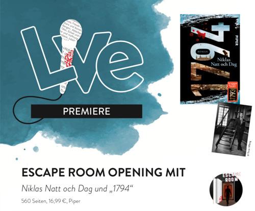 """Einladung zur Eröffnung des Escape Rooms """"1794"""" bei Hugendubel am Stachus"""