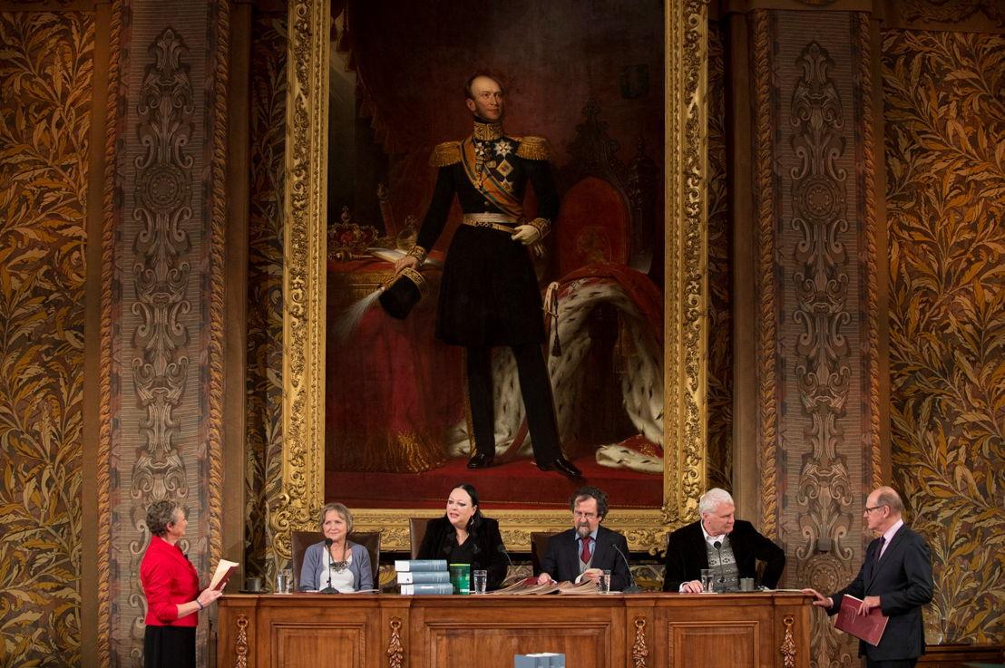 Het Groot Dictee - Martine Tanghe, Philip Freriks en de jury - (c) VRT
