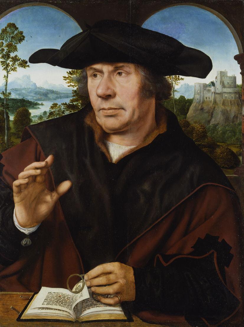 Op zoek naar Utopia © Quinten Metsys, Portret van een geleerde, c. 1525-1530. Städel Museum, Frankfurt am Main