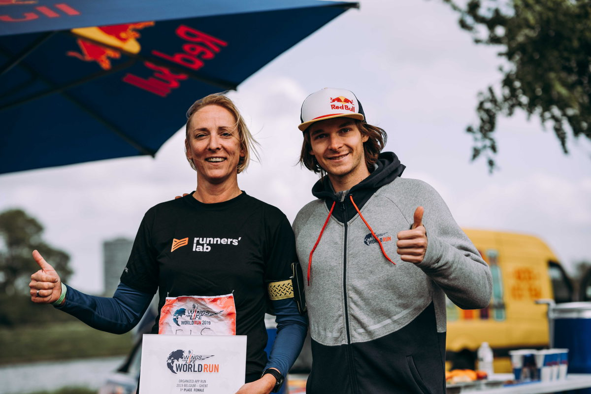 Els Vervaeke en Seppe Smits - Wings for Life World Run Organized App Run Gent 2019