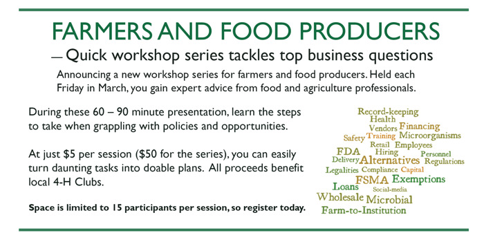 Preview: Workshop Series for Farmers and Food Producers