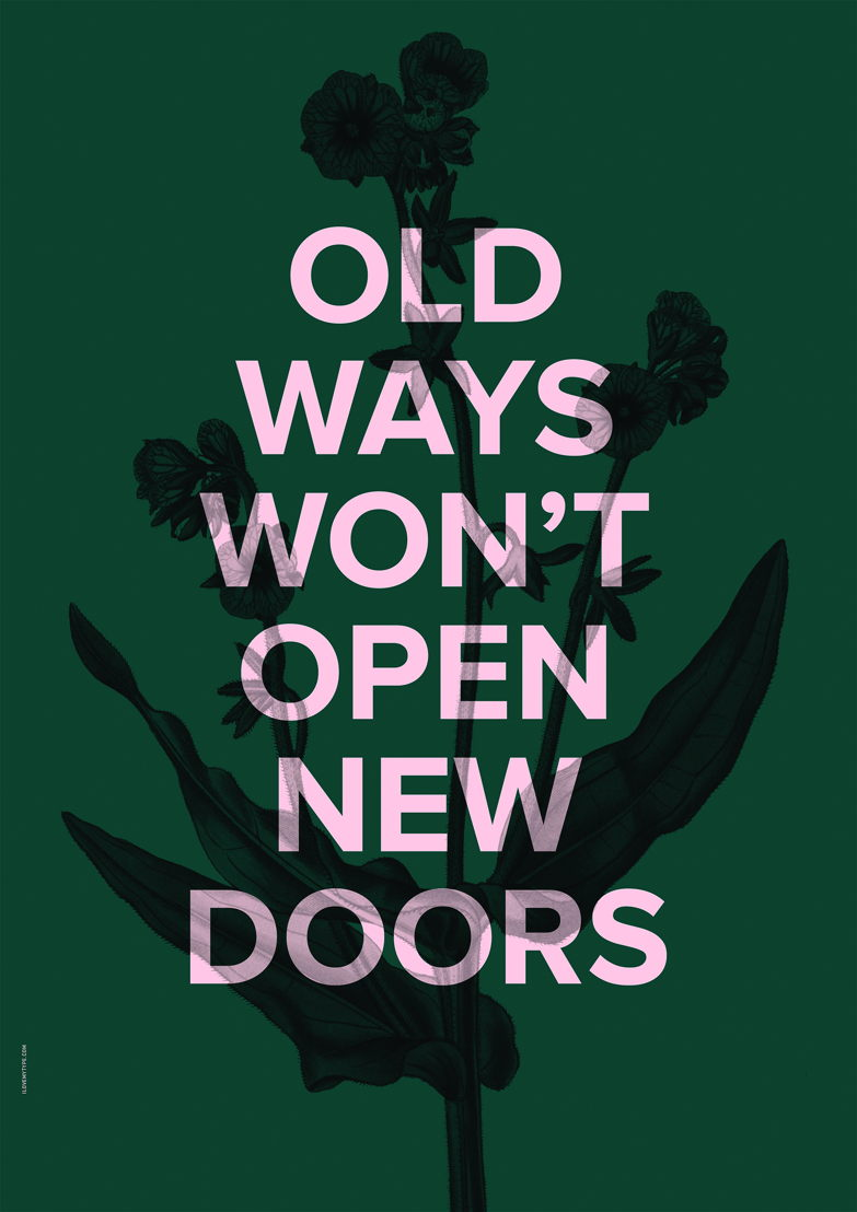 I Love My Type Poster New Doors - Racing green 27€