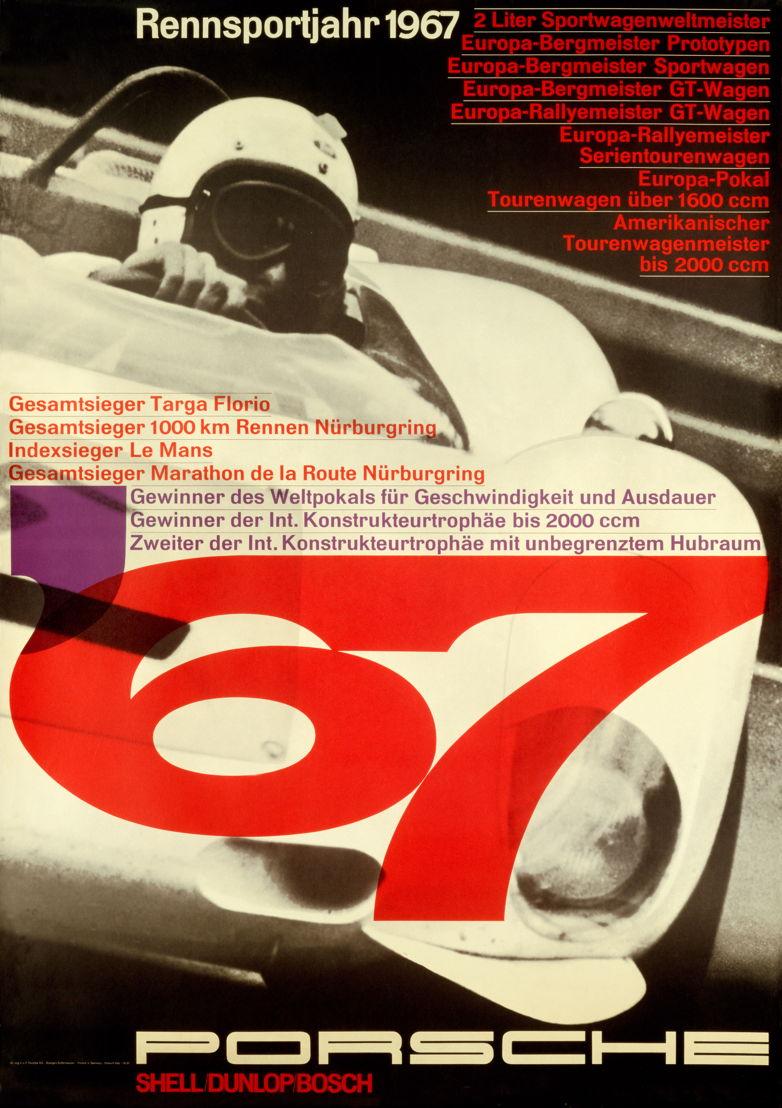 1967. Triplete del Porsche 910 en la Targa Florio