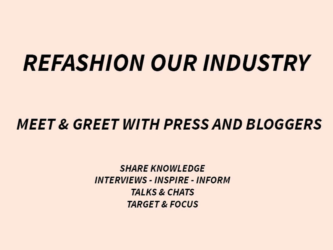 INVITE TO JOIN - REFASHION OUR INDUSTRY - 24th of November