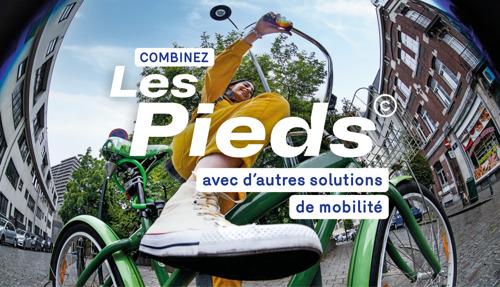Bruxelles Mobilité et mortierbrigade/VO Communications nous poussent à utiliser Les Pieds©, mais pas que.