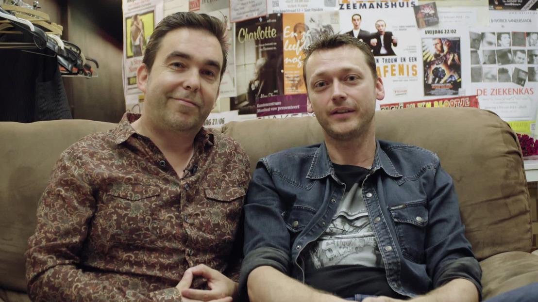Vlaamse acteurs Gunter Reniers en Yves Caspar zoeken nieuw theater in Huizenjagers