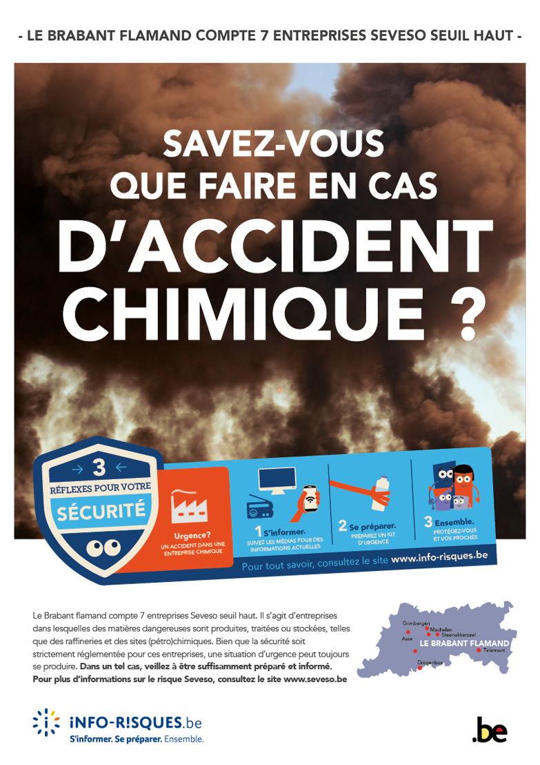 affiche campagne d'information et de sensibilisation sur la prévention des risques,